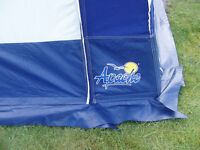 Apache porch awning,3mx3m blue grey in colour,steel frame good condition