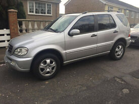 LEFT HAND DRIVE MERCEDES ML270 2003 2 PREVIOUS OWNERS AUTOMATIC OVNO