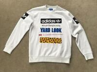 Brand NewLimited Edition Sample (with tags) Adidas Men's Street Graph CR White Sweatshirt