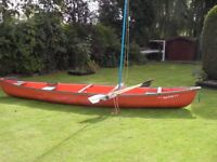 COLEMAN RAM - RAM X17 CANOE WITH SAIL AND PADDLES