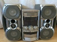JVC stereo system with speakers