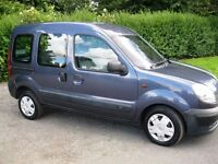 2003 RENAULT KANGOO 1.5dCi AUTHENTIQUE Wheelchair Accessible Vehicle 37000 MILES - 11 MONTHS MOT