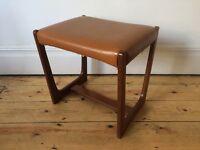 William Lawrence Retro Mid Century Dressing Table Stool Teak G Plan style