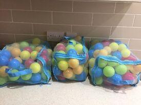 3 bags of children's ball pit balls