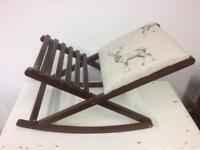 Folding Stag Gout/ Footstool