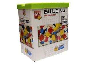 BLOCK TECH ASSORTED BUILDING BLOCKS COLLECTION 175 PIECE WITH BRICK LID BRICKS