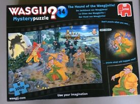 Jigsaw - Wasgij - 'The Hound of the Wasgijville' 1000 piece. Complete. Ex. Condition.