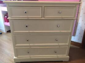 Chest of drawers and bed side table