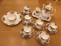 Royal Albert coffee/tea set with extras