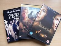 OCEANS ELEVEN,TROY,THE CURIOUS CASE OF BENJAMIN BUTTON DVDS