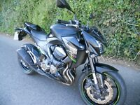 Kawasaki Z800 - 2014 with low miles. Stunning naked Sports bike.