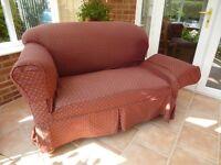 Victorian/Edwardian Drop Arm Sofa.