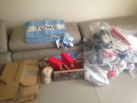 JOBLOT 18x Toms Shoes slippers with boxes and dustbags