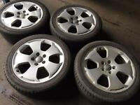 "Genuine 17"" Audi alloys with tyres"