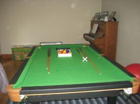 6 foot snooker/pool table