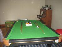 6 foot snooker/pool table