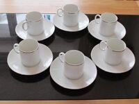 Elegant Espresso Cups/Saucers