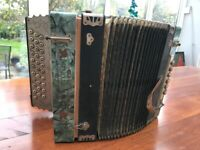 Vintage ACCORDION - in need of attention but a beautiful instrument