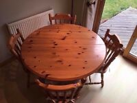 Fantastic Extending Pine Dining Table and 4 Chairs ***ONLY £95***