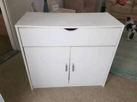 Small white sideboard/cupboard from argos