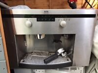 AEG integrated coffee maker