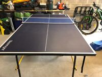 Table Tennis Table and Net 3/4 size £10 Folds Away Neatly Perfect for Garage or Outside