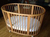 Stokke Sleepi Crib & Cot, with Eco Mattresses & Bedding