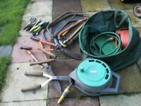 Mixed garden tools