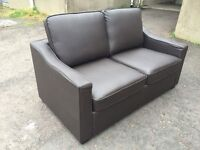 BRAND NEW -BROWN LEATHER SOFA-BED