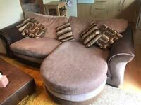 Large sofa settee with two person Cuddle chair