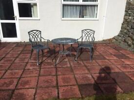 Cast iron bistro garden set