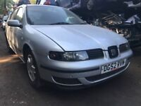 Seat Leon 2002 1.4 Petrol Grey 5dr - Breaking For Spares