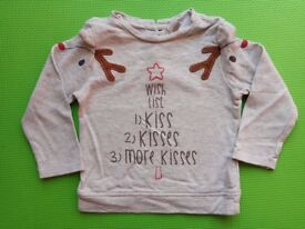Girls Christmas jumper 18-24 months
