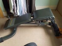 Free weights bench. Please see pictures. Good condition.