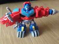 Heroes Transformers Optimus Primal Figure & Bumblebee Camaro sports car