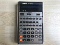 Vintage CASIO fx-201P Scientific Calculator + Case..