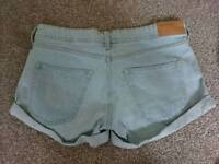 H&M denim skinny shorts