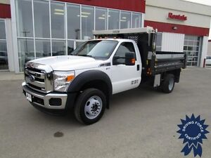 2015 Ford F-550SD XLT Regular Cab 4X4 Diesel DRW w/11' Dump Box