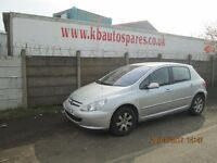 Peugeot 307 S 1.6 Petrol breaking for spares Wheel Nut.