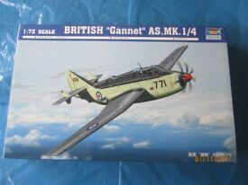 "Unopened 1/72 Trumpeter British ""Gannet"" AS.Mk 1/4 Model Aircraft Kit No. 01629"