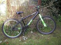x rated mesh dirt/jump bike,26x2.3 tyres,very little used,excellent condition
