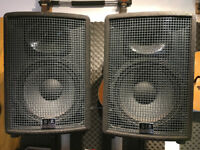 SR Technology Live 350/A Powered PA Speakers in excellent working order