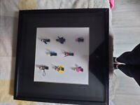 Lego figures & frame