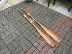 TRADITIONAL WOODEN OARS