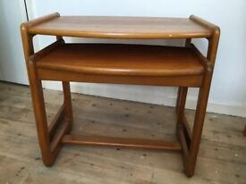 Retro pair of side tables