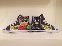Lego Batman Movie Hand Painted Custom Shoes Uk Childs Size 8