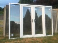 LARGE UPVC DOUBLE GLAZED FRENCH PATIO DOORS 290 cm WIDE 210 cm HEIGHT