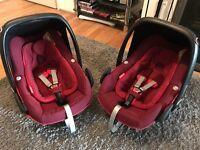 Maxi cosi Pebble Plus red car seat