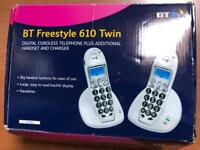 BT Freestyle 610 Twin (Large Button) Digital Cordless Handset and Charger