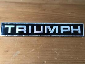 Triumph car/bike name plate